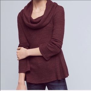 Anthro | Postmark Maurisa Cowl Neck Thermal Top